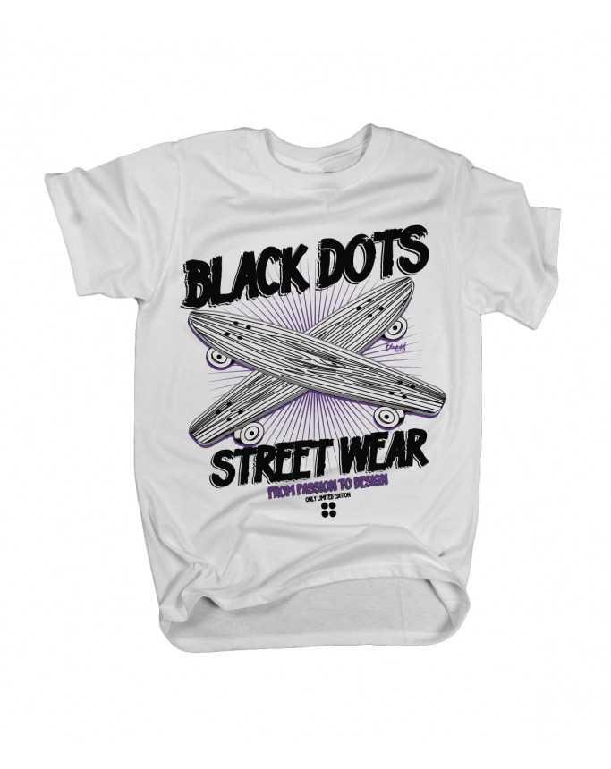 t-shirt sk8 white
