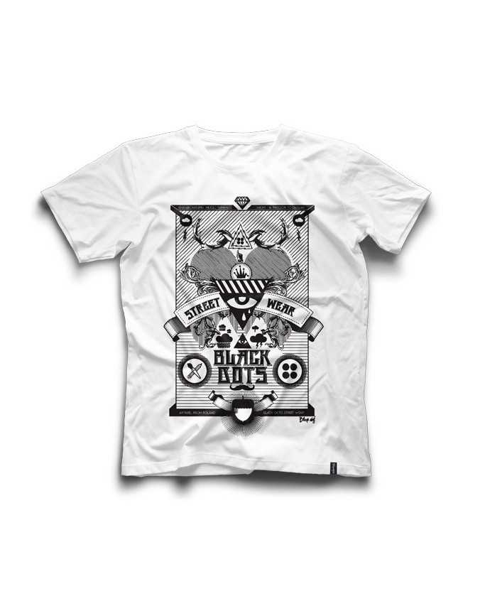 t-shirt Metal Wht